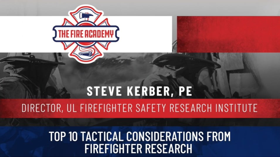 Top 10 Tactical Considerations from Firefighter Research