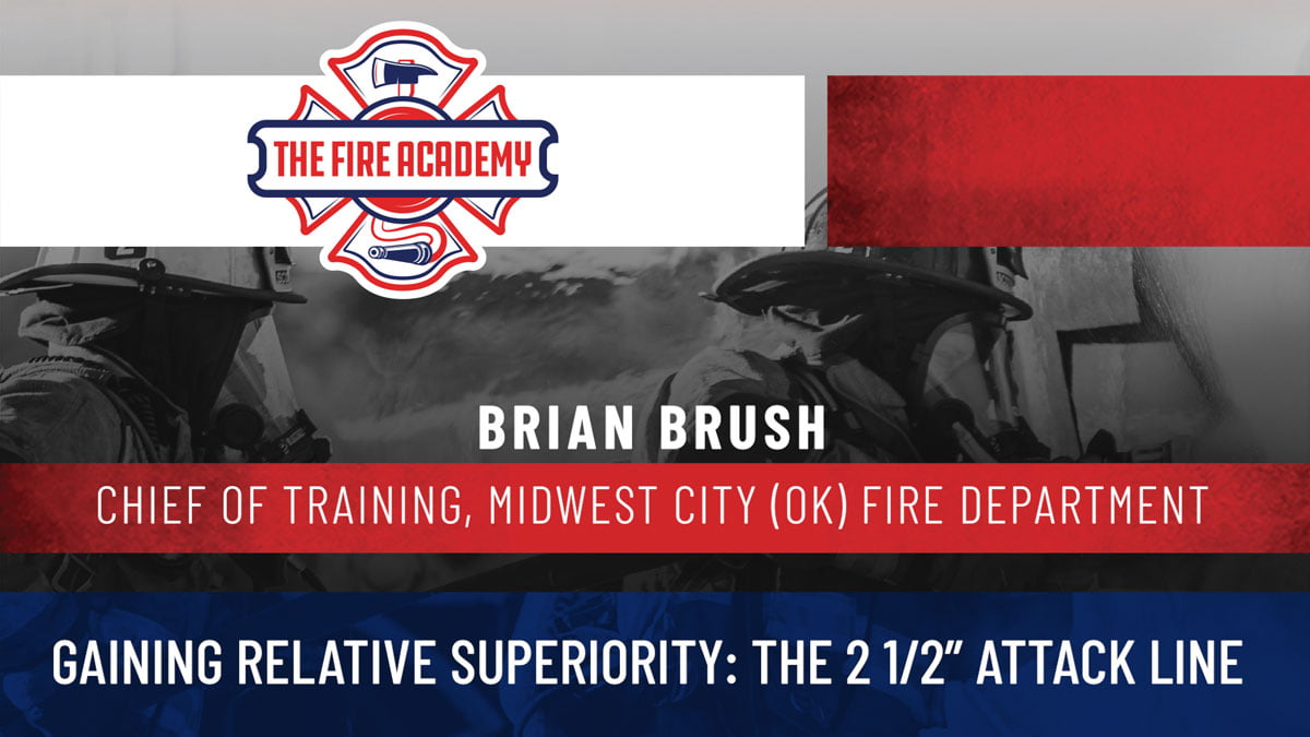 Brian Brush on the 2 1/2-inch line